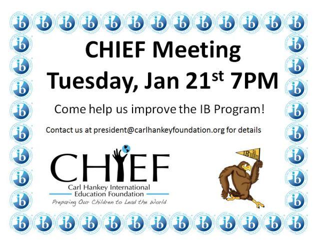 CHIEF January Meeting